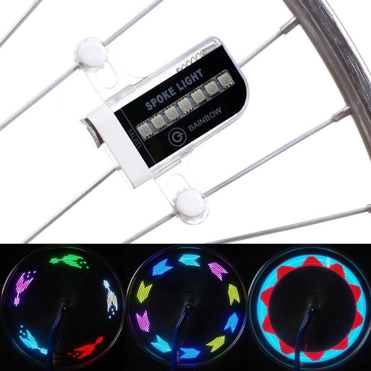 Trendfield Spaakverlichting Fiets - LED Fietswiel Verlichting voor Spaken 30 Patronen - Automatisch Aan/Uit