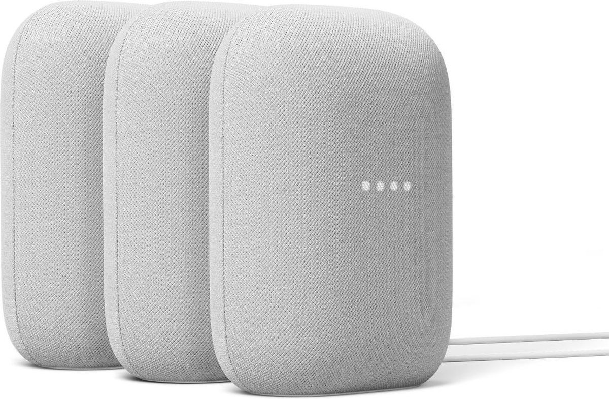 Google Nest Audio - Chalk - 3-pack kopen