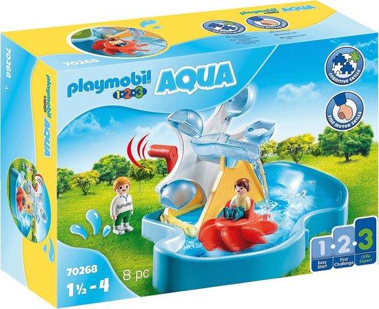 PLAYMOBIL 1.2.3. Aqua Waterrad met carrousel - 70268