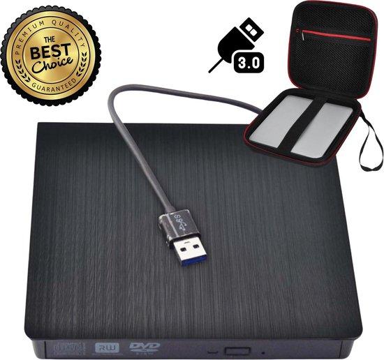 Externe draagbare Superdrive - Met opberghoes - CD/DVD Speler & Brander - Super Snel - Laptop & Computer