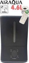 AirAqua Luchtbevochtiger Alpha II (zwart) - Topfill + Ionisator + Hygrometer! Incl. extra filterset!