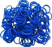 50 gram - elastiek - blauw - Ø15 x 1,5mm -  in zak - ca 250 stuks