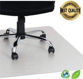 Luxergoods bureaustoelmat EVA (biologisch) - 90x120 cm - Vloermat  - Vloerbeschermer - Beschermt harde vloer en vloerbedekking