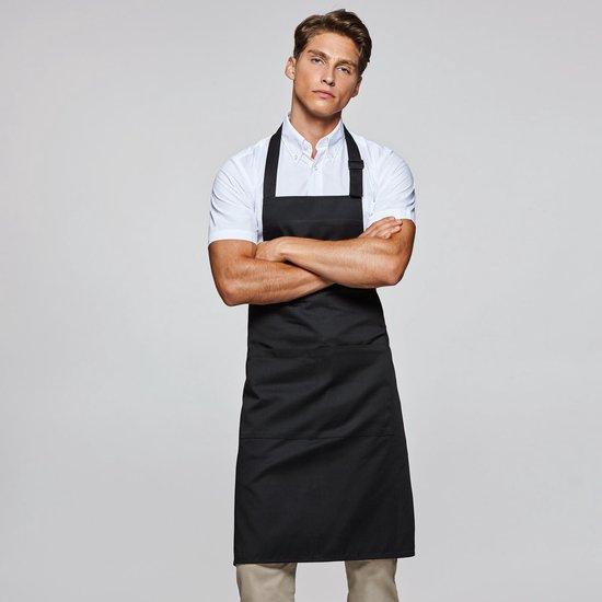 Mijncadeautje Keukenschort - Zwart - Top Chef Eetsmakelijk - met naam - Mijncadeautje