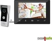 Bedrade deurbel met camera, 2 draads, gratis opslag beelden op SD-kaart, 7 inch scherm - Doorsafe 7200
