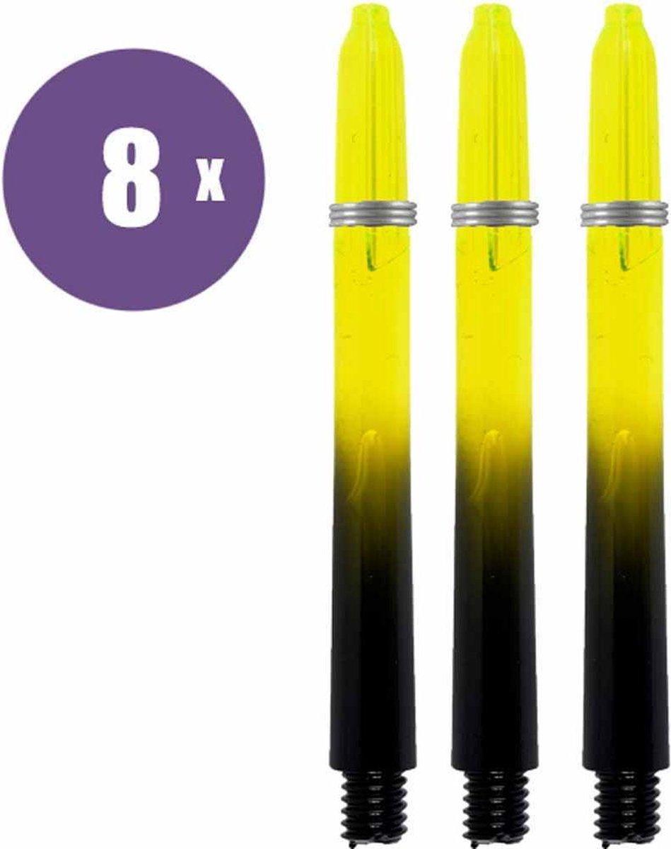 ABC Darts Shafts - Kunststof Black V Geel - Medium - 8 sets