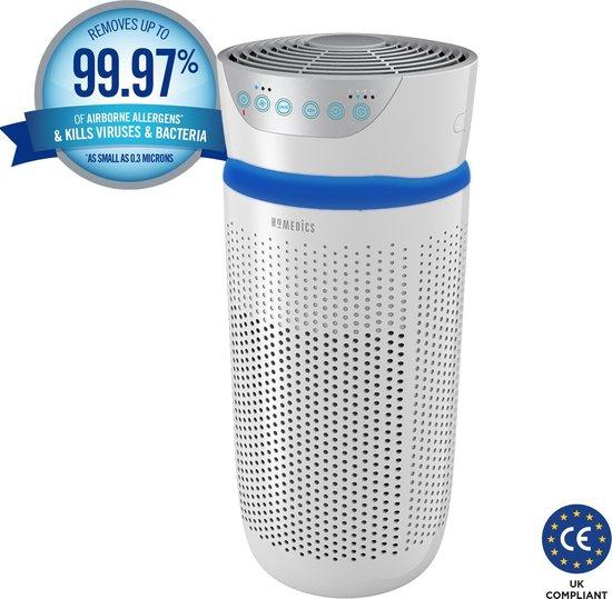 HoMedics TotalClean Air Purifier - luchtreiniger met Hepa filter - luchtververser - UV-C licht doodt ziektekiemen, virussen en bacteriën