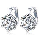 Victorious Dames Oorbellen – Oostenrijks Bergkristal – Zilver – 2cm