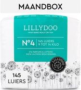 LILLYDOO luiers - Maat 4 (9-14 kg) - 145 Stuks - Maandbox