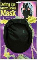 Witbaard Masker Ghoul Oplichtende Ogen Zwart One-size