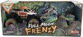 Hot Wheels monster jam truck 3-pack - Full Moon Frendys met Zombie schaal 1:24 en Grave Digger & Sun Uva Digger schaal 1:64