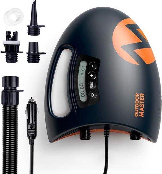 Outdoor Master - Shark II - Elektrische sup pomp - 20PSI pomp -Suppomp - Opblaasbare supboard - Pomp meerdere supboarden tegelijk op