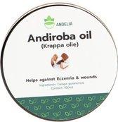 Andelia Krappa olie   100% Natuurlijke olie tegen Wondjes, Littekens & Eczeem   onderdrukt Psoriasis - 100ml