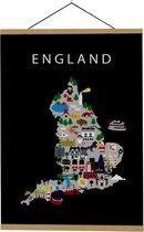 Kaart van Engeland   B2 poster   50x70 cm   Maison Maps