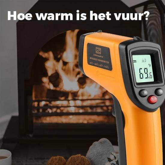 Infrarood Warmtemeter | Draadloze Temperatuurmeter, -50 tot 380 graden Celcius - Inclusief batterijen - Merkloos