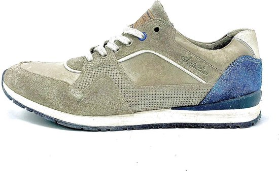 Australian Footwear Becket Leather - Light Grey/Blue - Maat 43
