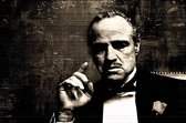 Godfather plexiglas 120 x 80 cm Foto op Plexiglas incl. luxe ophangframe