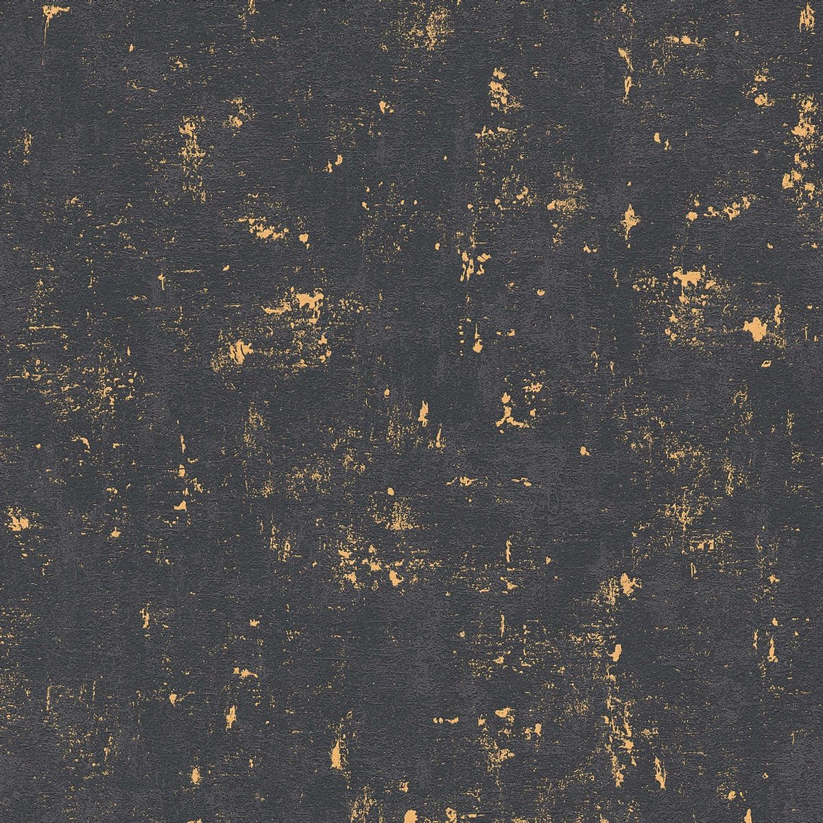 BETONLOOK BEHANG - Zwart Goud Metallic - AS Creation Trendwall