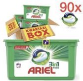 Ariel Regular 3in1 Pods - Kwartaalbox 90 Wasbeurten - Wasmiddel Capsules