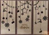 Houten raamscherm kerst winter decoratie