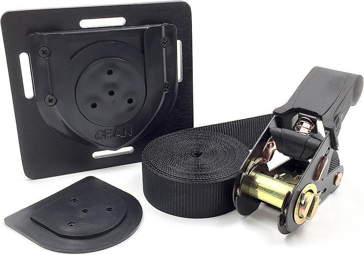 Granboard Ophangsysteem Gran Darts Belt Zwart 4-delig