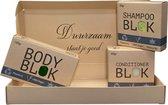 Complete set Shampoo bar & Body bar Mojito + Conditioner Olijf - Voor alle haarsoorten   Zonder SLS/SLES en vrij van Parabenen   100% plasticvrij & vegan   Cadeauverpakking   Duurzaam cadeau