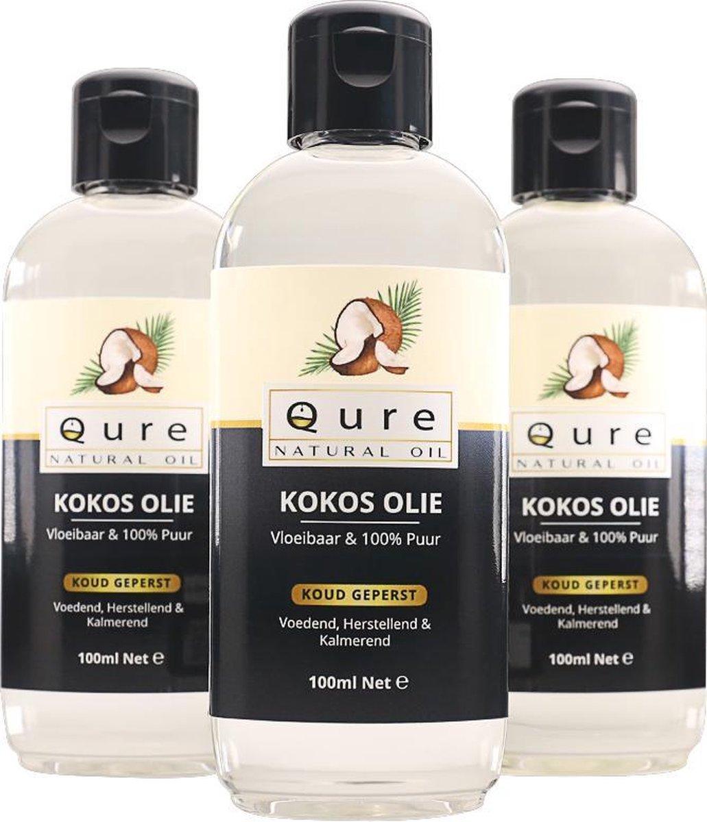 Kokosolie 100ml   100% Puur en Vloeibaar   MCT Kokos Olie voor Haar, Huid en Lichaam