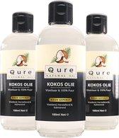 Kokosolie 100ml | 100% Puur en Vloeibaar | MCT Kokos Olie voor Haar, Huid en Lichaam