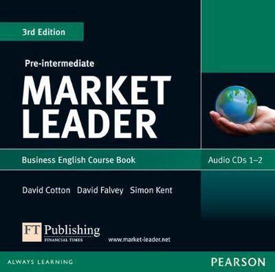 Boek cover Market Leader 3rd edition Pre-Intermediate Audio CD (2) van David Cotton (Onbekend)