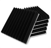 Zelfklevende geluidsisolatie wedge | Akoestische panelen | isolatieplaten | Studioschuim | Geluidsdemper | 30 x 30 x 2.5 cm | 0,53m2 | 6 stuks - Zwart