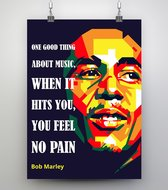 Poster WPAP Pop Art -Bob Marley Music