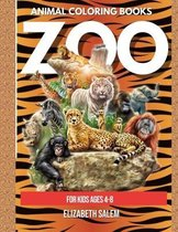 Zoo Animal Coloring Book for Kids Ages 4-8