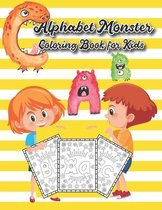 Alphabet Monster Coloring Book for Kids
