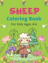 SHEEP Coloring Book For Kids Ages 4-6