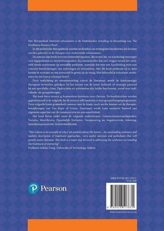 Therapieboek Stotteren Volwassenen