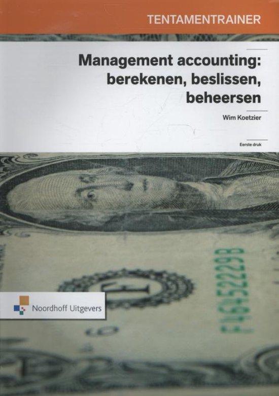 Boek cover Tentamentrainer management accounting van Wim Koetzier