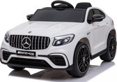 Elektrische Kinderauto Mercedes Benz GLC 63 S Wit 12V Met Afstandsbediening FULL OPTIONS muziek rubber banden