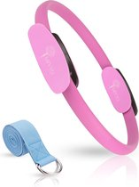 MIYYO Pilates ring Roze | Inclusief gratis yoga riem (blauw) t.w.v. 9,95 | Yoga ring | 38cm