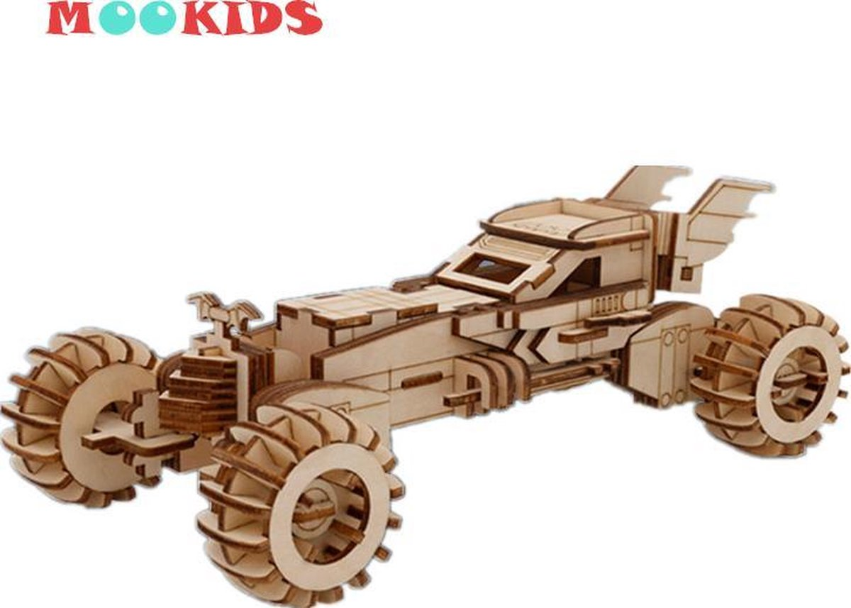 Mookids - Modelbouw Hout - 3D Puzzel - Batmobiel - 171 stukken