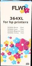 FLWR - Inktcartridges / 364XL / 5-pack BK/PBK/C/M/Y - Geschikt voor HP