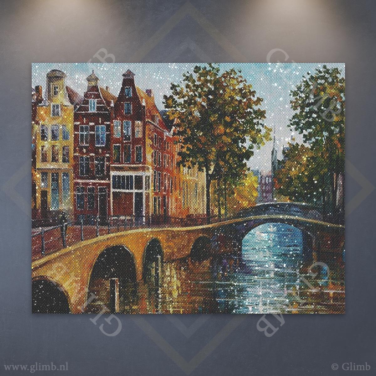 Glimb®   HQ Diamond Painting Pakket   Amsterdam   40x40cm   Vierkant   Volledig   Made in NL! // Diamond Painting - Diamond Painting Pakketten - Diamond Paint - Daimond Painting - Dotz -Diamond Schilderen - Diamond Painting Volwassenen