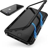 iPhone 7-8 Plus magnetisch hoesje case Zwart - Glazen Achterkant ter bescherming - shockproof magnetisch case hoes voor - Iphone 7 en 8 PLUS - Zwart + 3 stuks 9H glazen Screenprotectors
