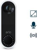 Arlo Videodeurbel | 1080p HD video, 25% groter gezichtsveld, Belt Direct je Mobiel Op, Smart-sirene, dag- en nachtvisie, SMART-app, AVD1001