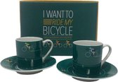 Ted Smith fiets espresso set - 4-delig