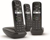Gigaset AS690E DECT telefoon - 3 handsets - Zwart