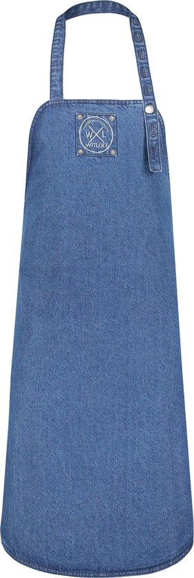 Witloft Denim Schort - gerecycled - extra lang - donkerblauw