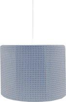 BINK Bedding Hanglamp Wafel (Pique) Dusty (inclusief pendel) - Grijsblauw