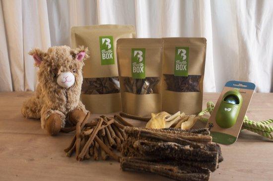 Bellobox puppy cadeaubox 100% natuurlijke hondensnacks