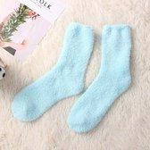 Fluffy sokken - Fluffy sokken dames- Warme sokken dames - Huissokken dames - Bedsokken - Huissokken kinderen - Huissokken - Huis sokken - Badstof sokken - Verwarmde sokken - Babyblauw - Wintersokken dames - Dames sokken - Dikke sokken