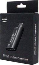 GEAR3000® Camlink Live Stream - HDMI naar USB - Camera als webcam - Video bellen Skype, Zoom en meer - Capture Card